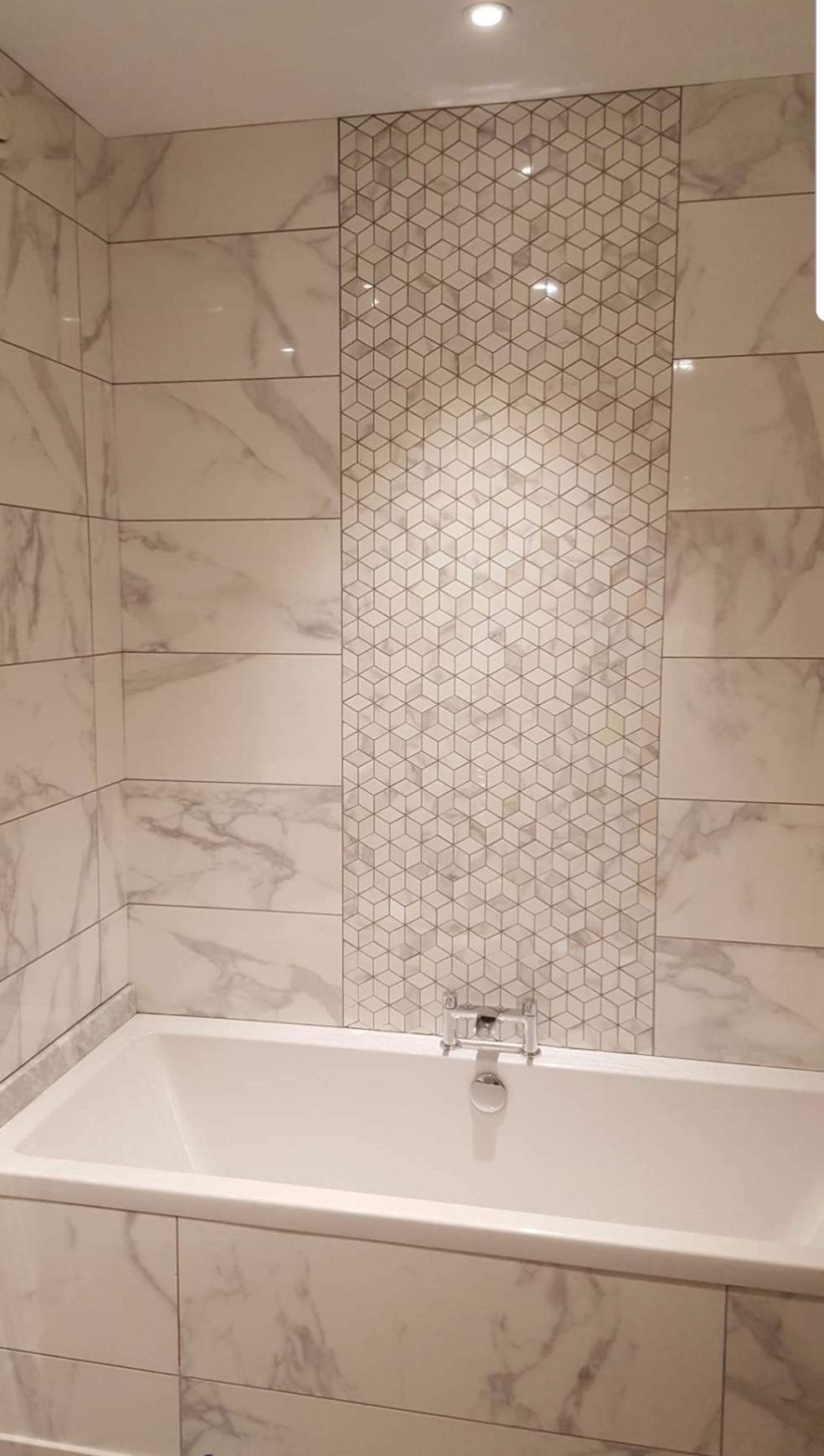 Carrara marble beautiful bathroom design glasgow katana bathrooms
