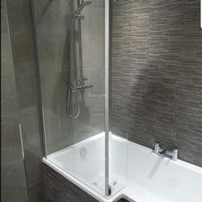 l shape bath shower bath Glasgow bathroom design Glasgow katana bathrooms